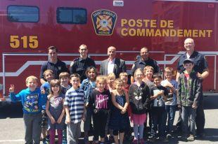 Plus de 60 enfants participent à Pompier d'un jour à Saint-Amable
