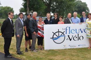 Troisième édition de l'activité Fleuve à vélo à Varennes