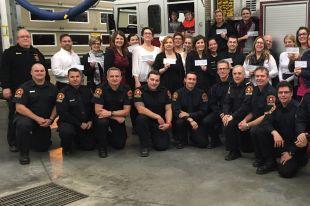 Les pompiers de Sainte-Julie remettent 7 600 $ à la communauté