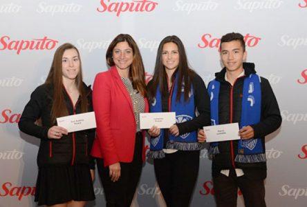 Trois athlètes de la région récompensés par le Programme de bourses Saputo