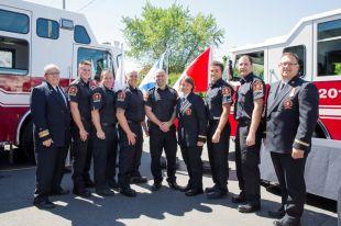 De nouveaux pompiers assermentés à Sainte-Julie