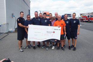 Les pompiers de Saint-Amable remportent le défi des tout-puissants leucan