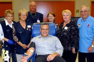 Collecte de sang du maire de Varennes – merci aux donneurs!
