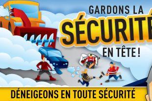 En février : Déneigeons en toute sécurité et Soyons vigilants à Varennes