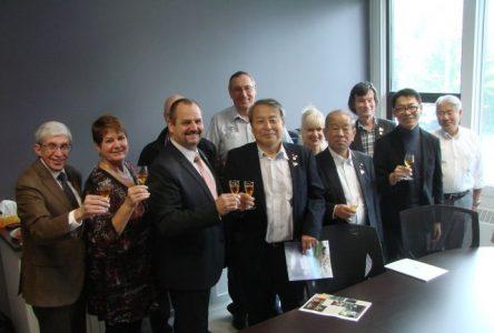 Une délégation japonaise en visite à Calixa-Lavallée et Verchères