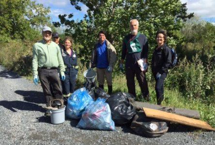 Une vingtaine de bénévoles impliqués dans le nettoyage des berges à Boucherville