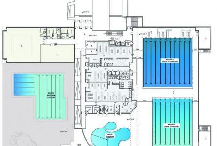 Une nouvelle piscine ayant deux bassins prévue au centre sportif Pierre-Laporte