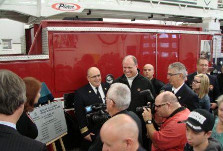 Inauguration de la nouvelle caserne et remise de médailles aux pompiers de Sainte-Julie