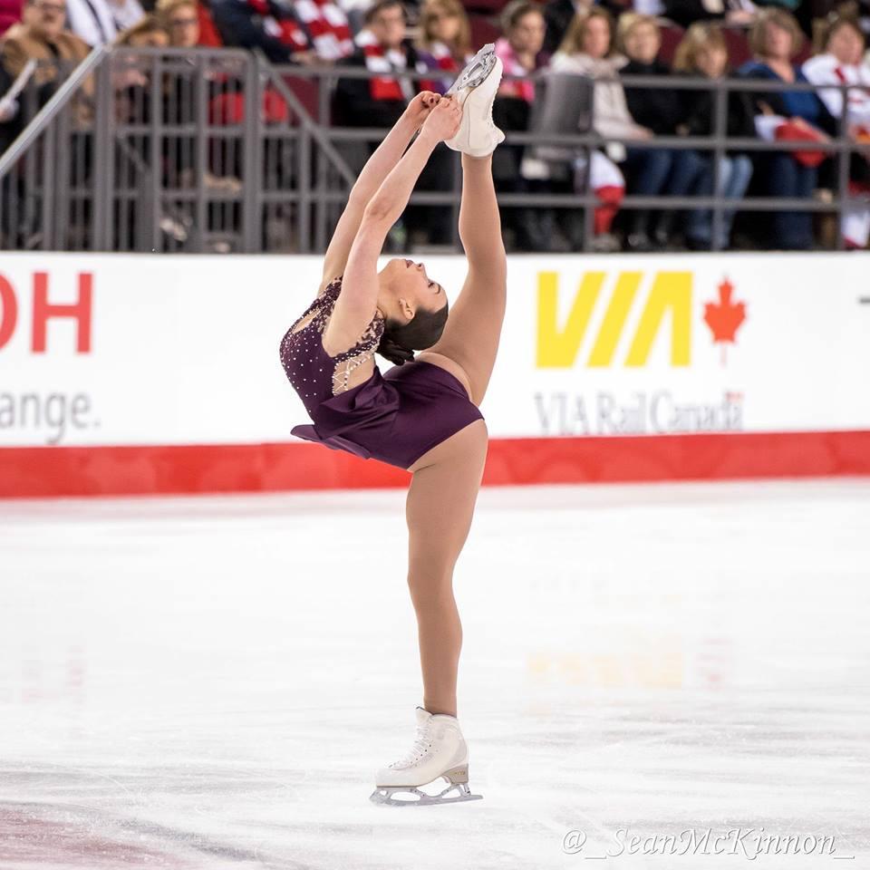 La Varennoise Alicia Pineault se hisse au 7e rang aux Championnats nationaux de patinage artistique