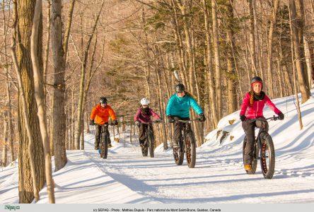 Le vélo sur neige, nouvelle coqueluche du plein air à la Sépaq