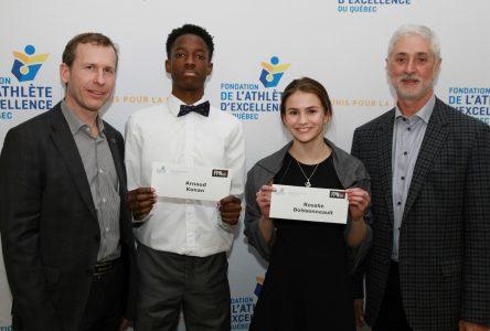 Deux élèves du programme sport-études reçoivent un appui financier