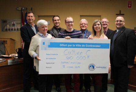 La Ville de Contrecoeur remet un chèque de 60 000 $ à l'organisme Culture C