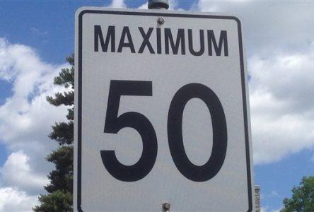 Réduction de la limite de vitesse à 50 km/h sur le chemin de la Butte-aux-Renards à Varennes