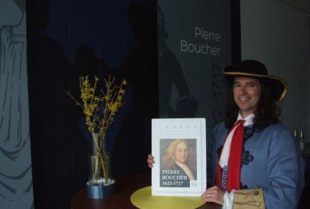 Émission d'un timbre-poste à tirage limité à l'effigie de Pierre Boucher à Boucherville