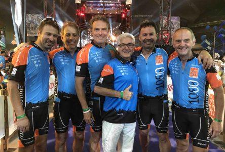 Mission accomplie pour le maire de Varennes Martin Damphousse et le conseiller municipal Marc-André Savaria qui ont complété le 1000 Km du Grand défi Pierre Lavoie