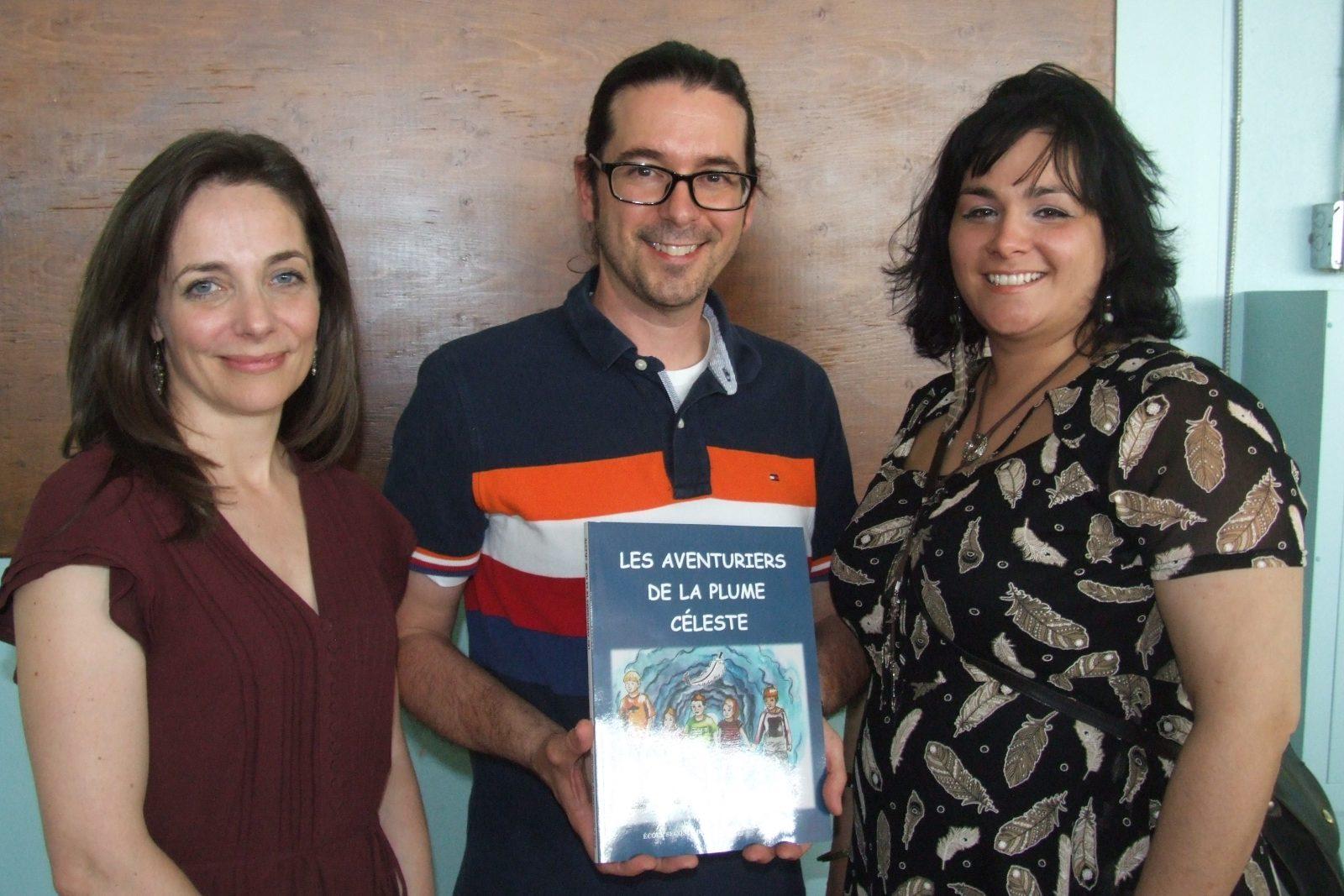 Lancement de la trilogie Les Aventuriers de la Plume céleste à l'école secondaire de Mortagne