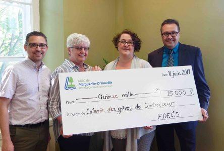 La MRC de Marguerite-D'Youville octroie 15 000 $  à la Colonie des Grèves de Contrecœur