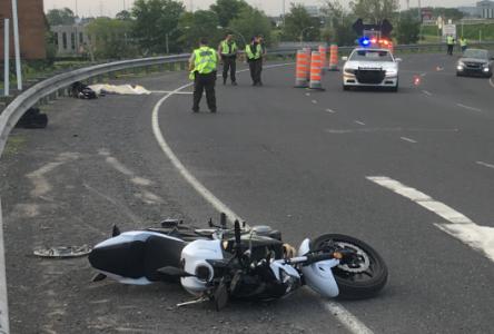 Accident de moto à la hauteur de Varennes