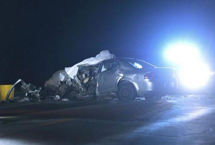Accident mortel sur l'autoroute 20 à la hauteur de Sainte-Julie