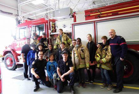 Plus de 60 enfants participent à Pompiers d'un jour à Saint-Amable
