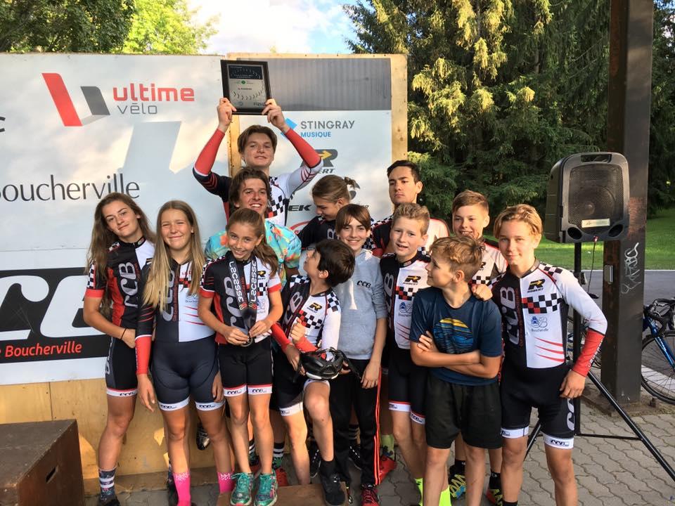 Le Club Cycliste Boucherville termine en troisième place au terme de la Finale de la Coupe Québec de cyclisme sur route