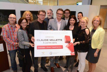 Vernissage de l'exposition À contre sens de Claude Millette à la Bibliothèque de Varennes le 7 septembre