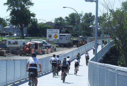 Plus de 100 cyclistes de la Rive-Sud inaugurent le nouveau tronçon du sentier Oka/Mont-Saint-Hilaire à Boucherville