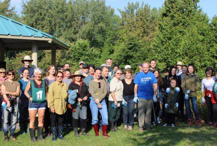 Une soixantaine de bénévoles participent au nettoyage des berges du fleuve Saint-Laurent à Boucherville