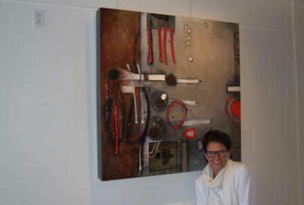 Un univers à la fois cérébral et émotionnel dans les tableaux de l'artiste peintre Sylvie Cloutier