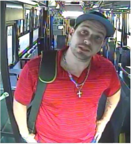 Individu menaçant envers un chauffeur d'autobus recherché