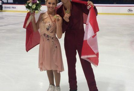 Les patineurs Marjorie Lajoie et Zachary Lagha décrochent l'or dans un Grand Prix Junior international