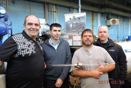 La CNESST honore l'usine de production d'eau potable de Longueuil