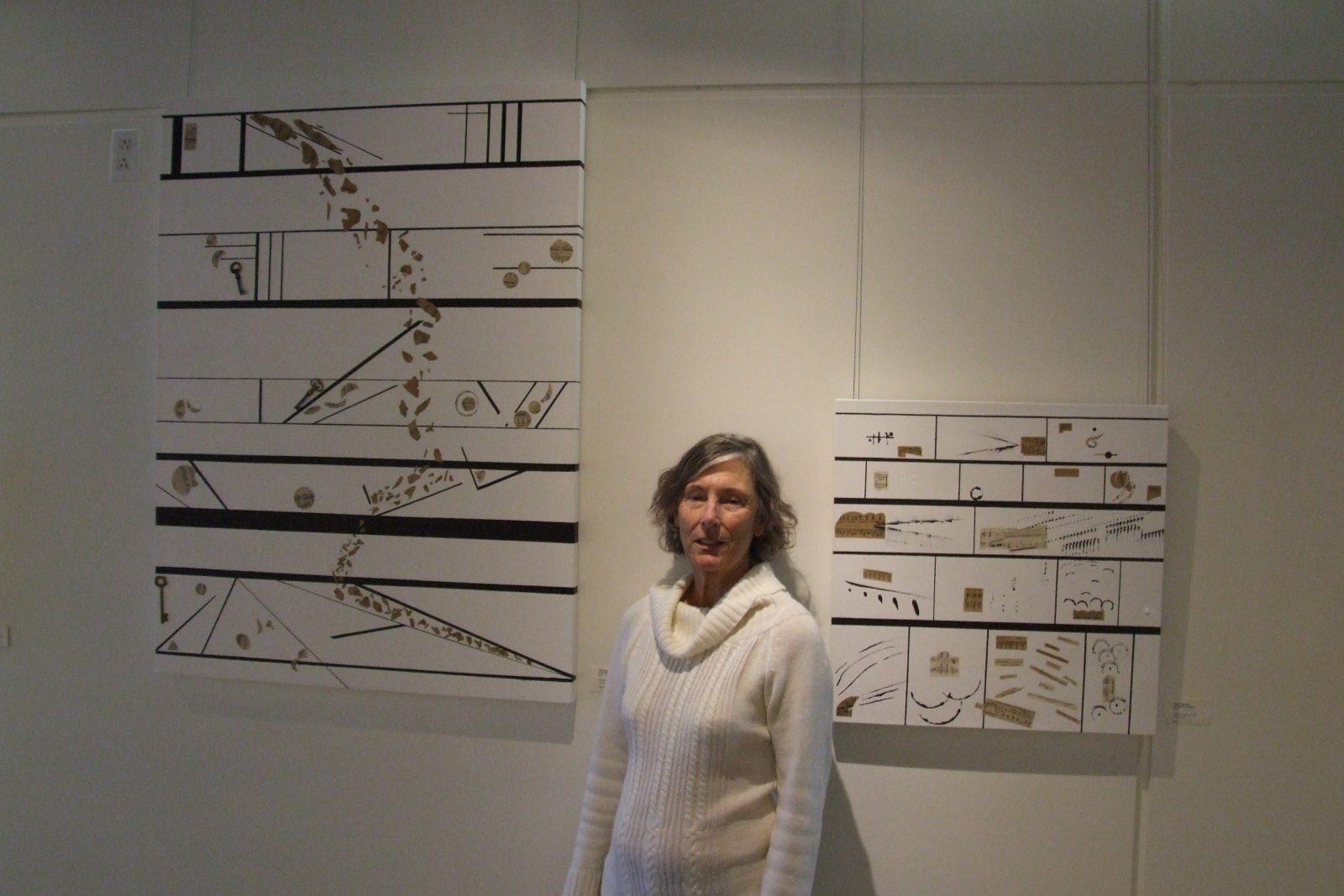 L'artiste peintre Claire Desjardins puise son inspiration dans la musique