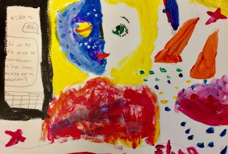Des oeuvres d'enfants des camps de jour exposées à la galerie lez'arts