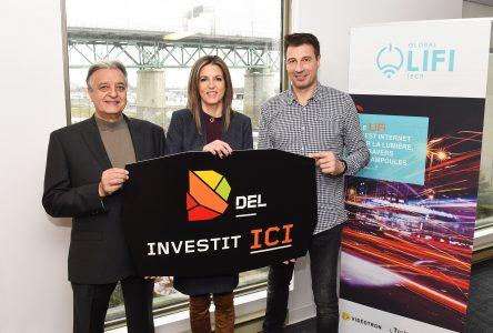 DEL accorde un financement de 100 000 $ à Global LiFi Tech, de Longueuil