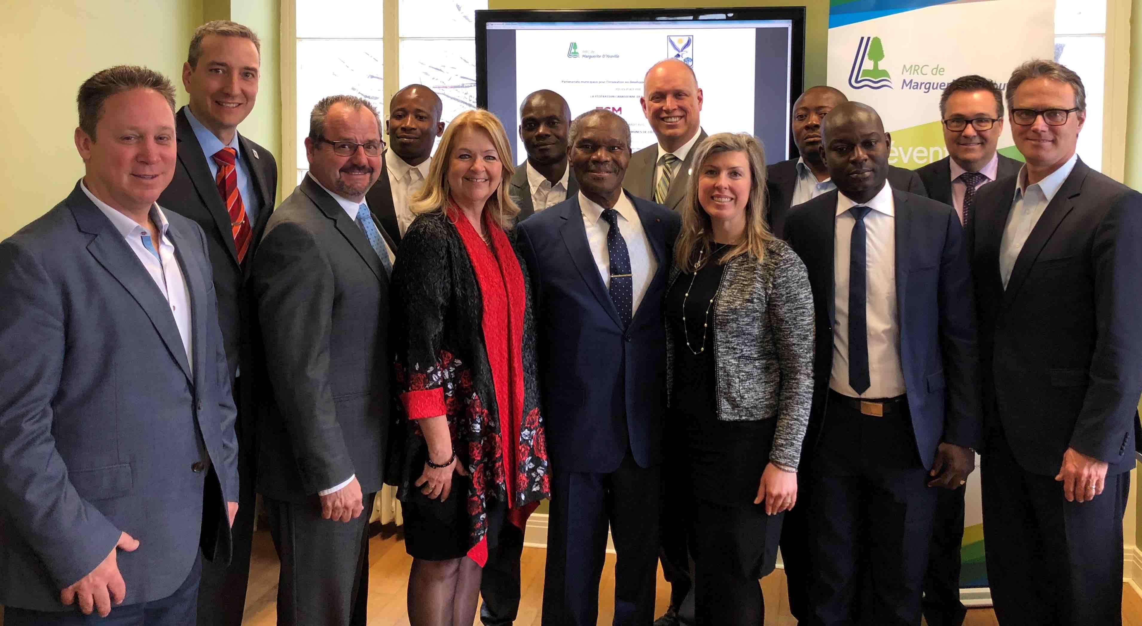 La MRC de Marguerite-D'Youville signe un protocole d'entente avec la Côte D'Ivoire