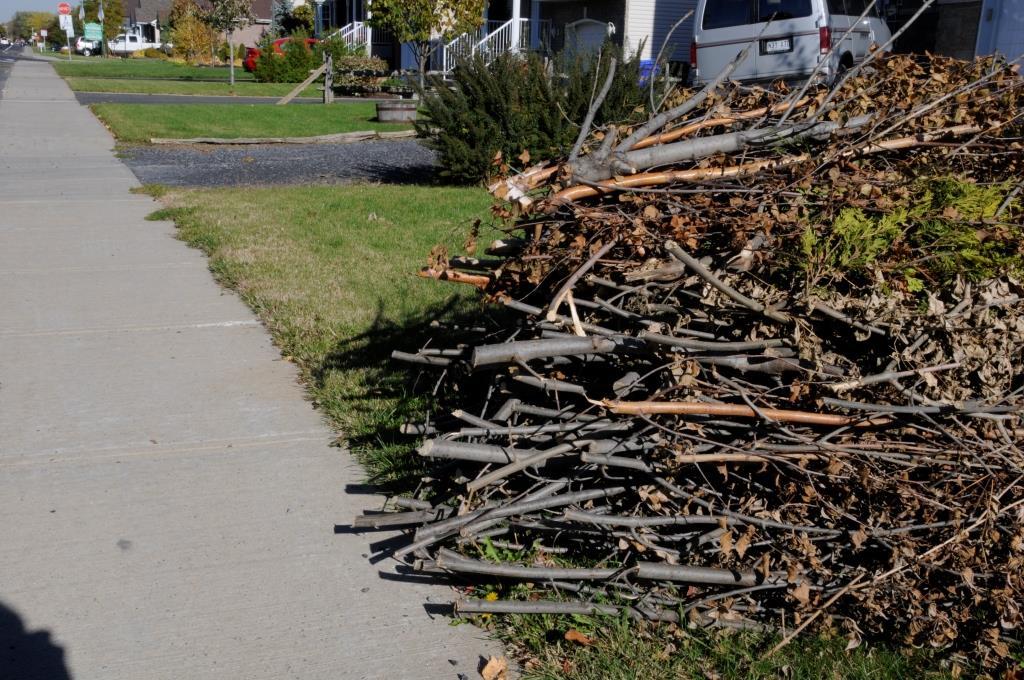 Collecte des branches retardée d'une semaine à Sainte-Julie