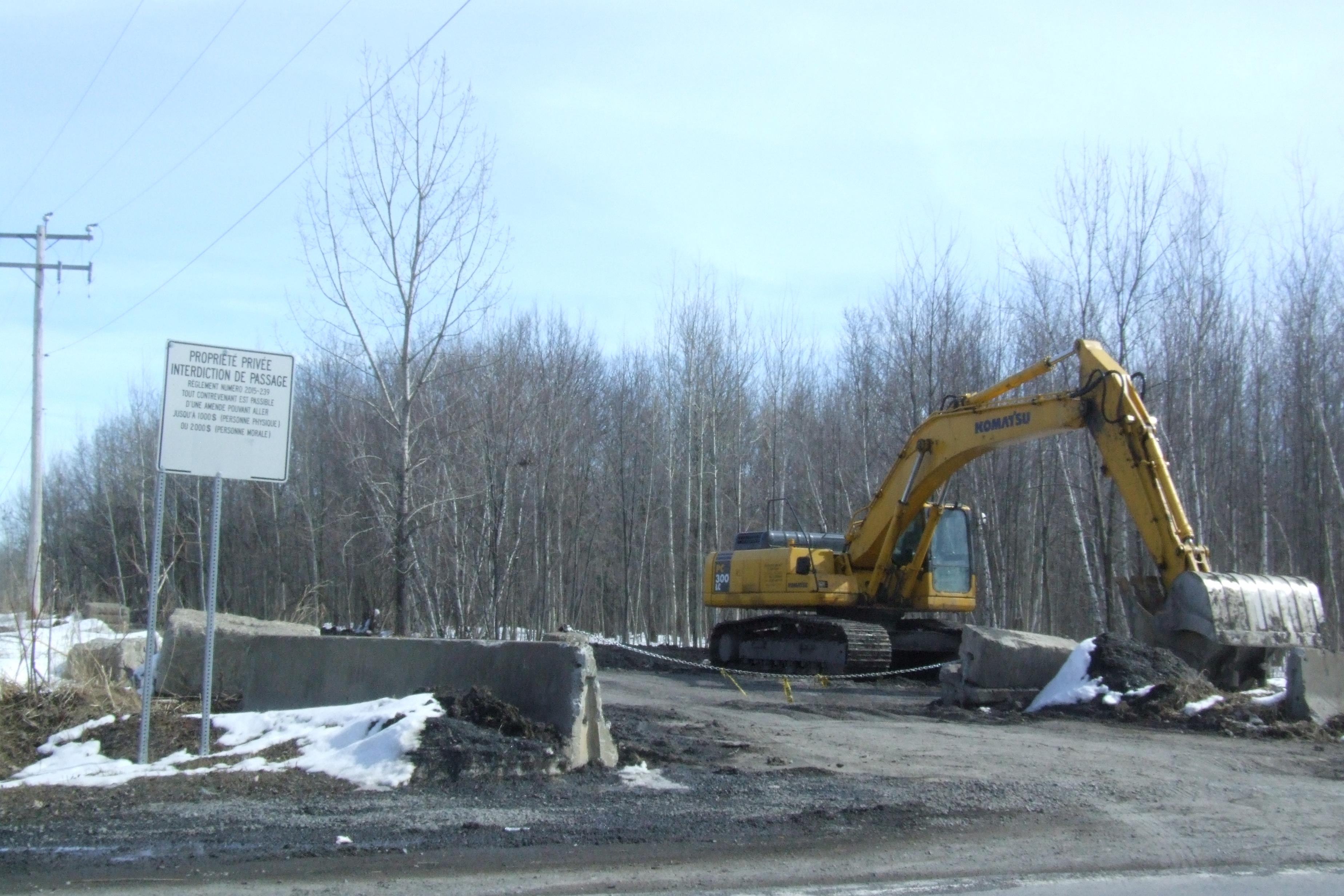 Dossier de la réhabilitation de l'ex-carrière Landreville  – Les camions passeraient pas un chemin alternatif si Québec en accepte l'aménagement