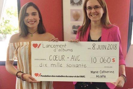 Une pianiste de cœur remet un don de 10 000 $