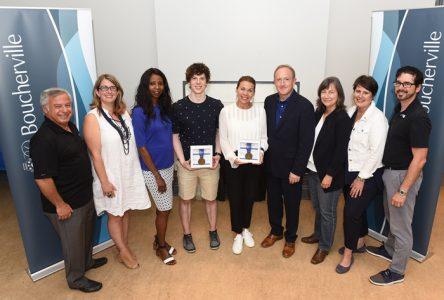 Meagan Duhamel et Charle Cournoyer reçoivent le prix Louis-Lacoste
