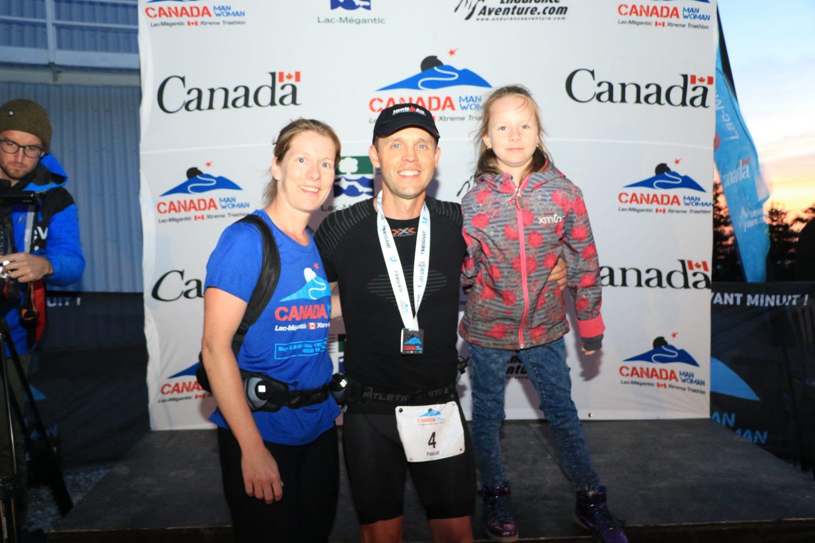 Pascal Morissette réussit un défi extrême; le Triathlon Canada man/woman