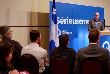 Investiture de Stéphane Bergeron pour le Parti Québécois de Verchères
