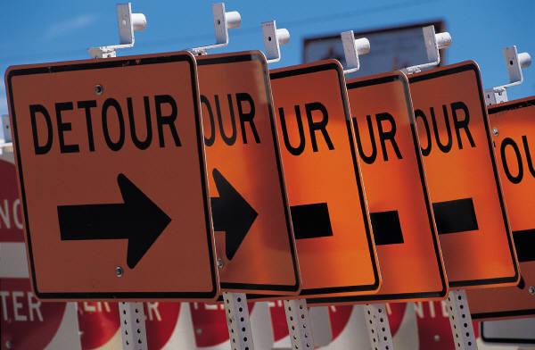 Travaux sur le chemin de Touraine: déplacement des entraves