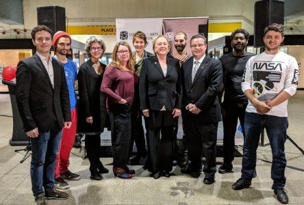 Lancement des Studios Éphémères du Conseil des arts de Longueuilà la station de métro Longueuil–Université-de-Sherbrooke