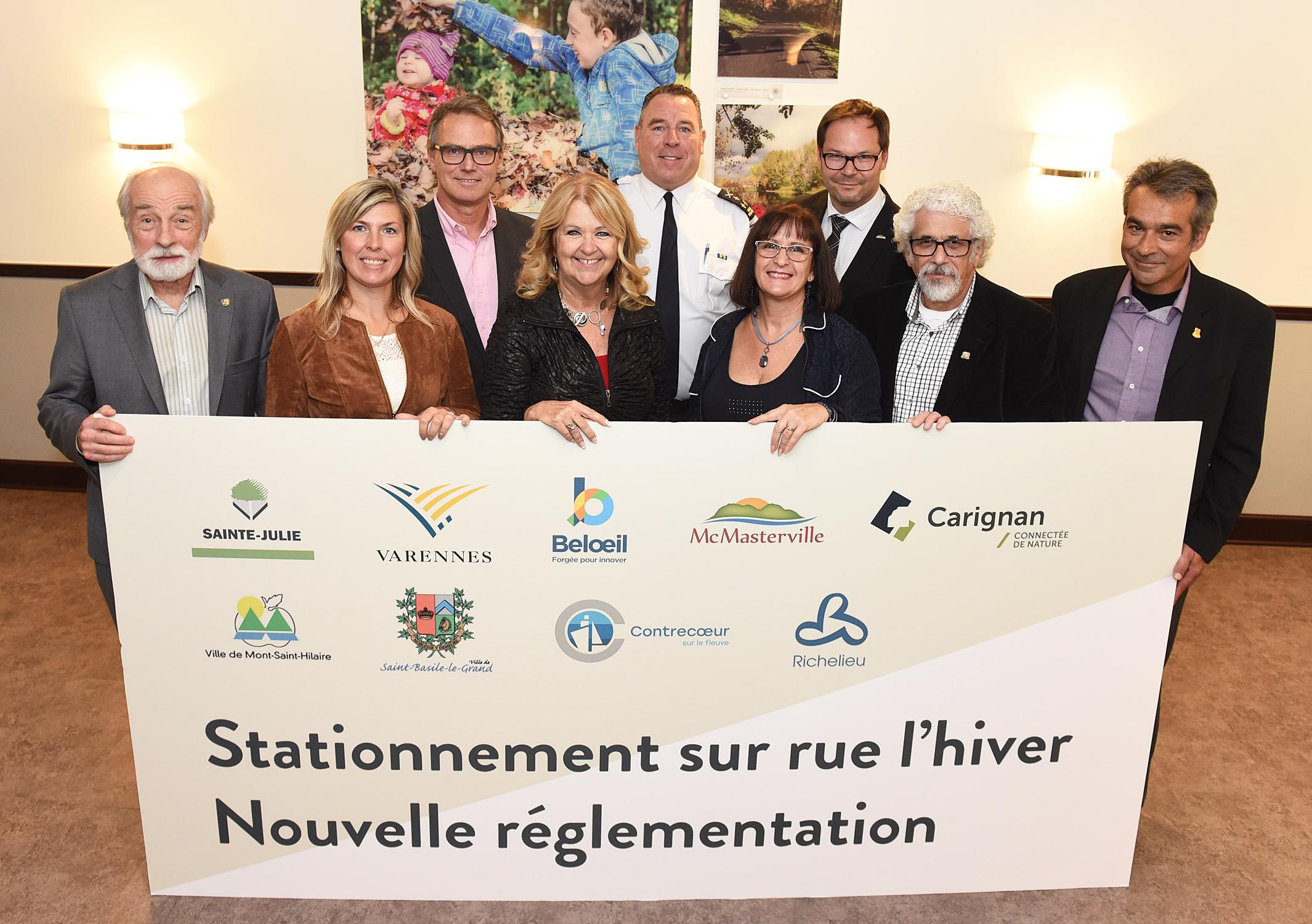 À Contrecœur, Sainte-Julie et Varennes: assouplissement du règlement pour le stationnement hivernal la nuit