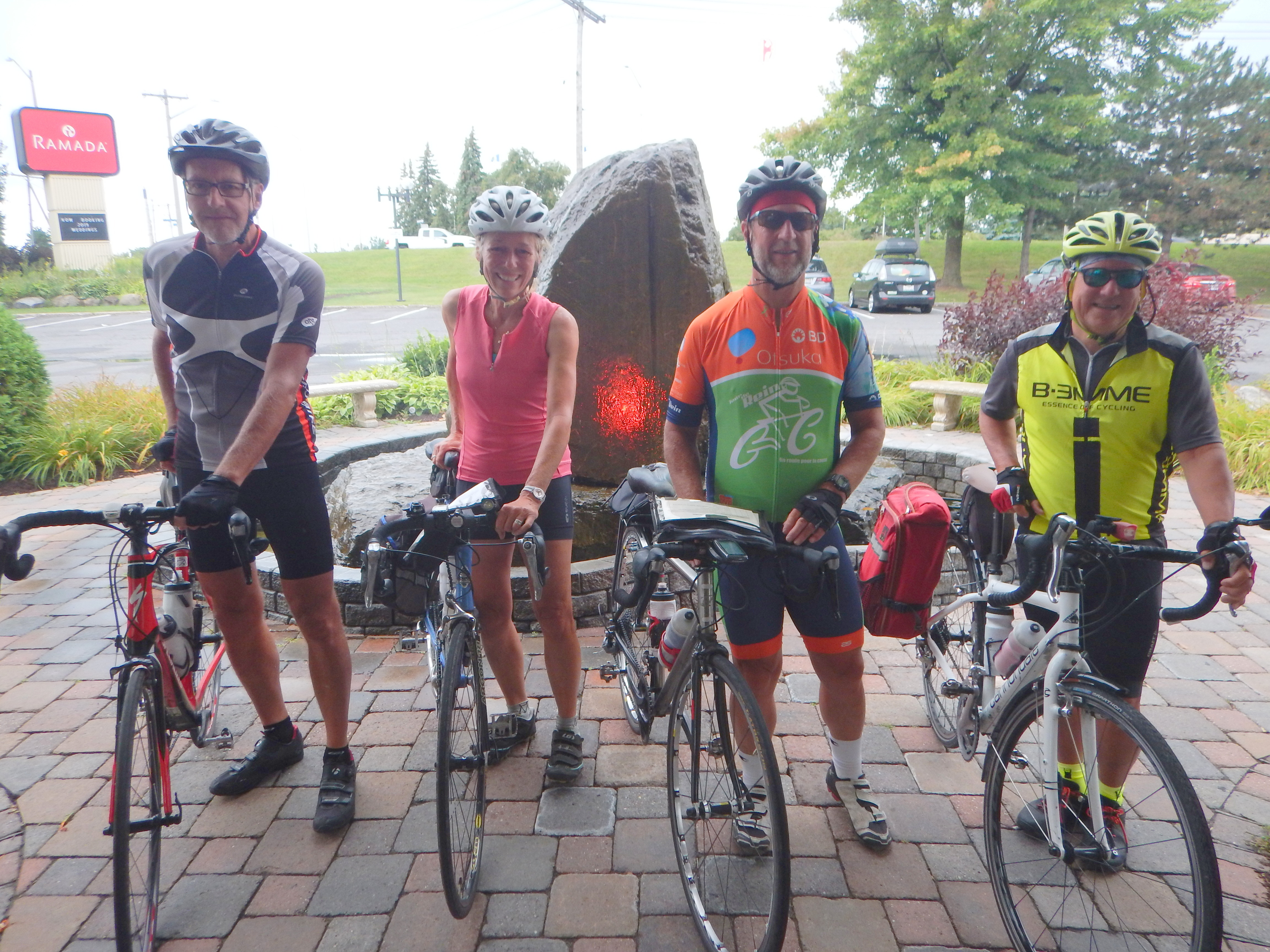 Quatre Bouchervillois découvrent le Canada à vélo