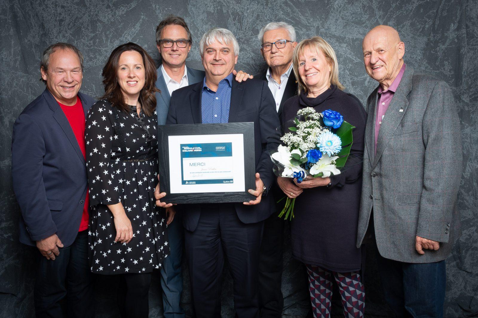 Le Varennois Jean Poulin reçoit le Prix du bénévolat régional en loisir et en sport Dollard-Morin