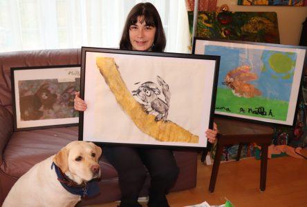 Une jeune autiste expose au CJE: Maëlle Adenot et l'art d'être unique