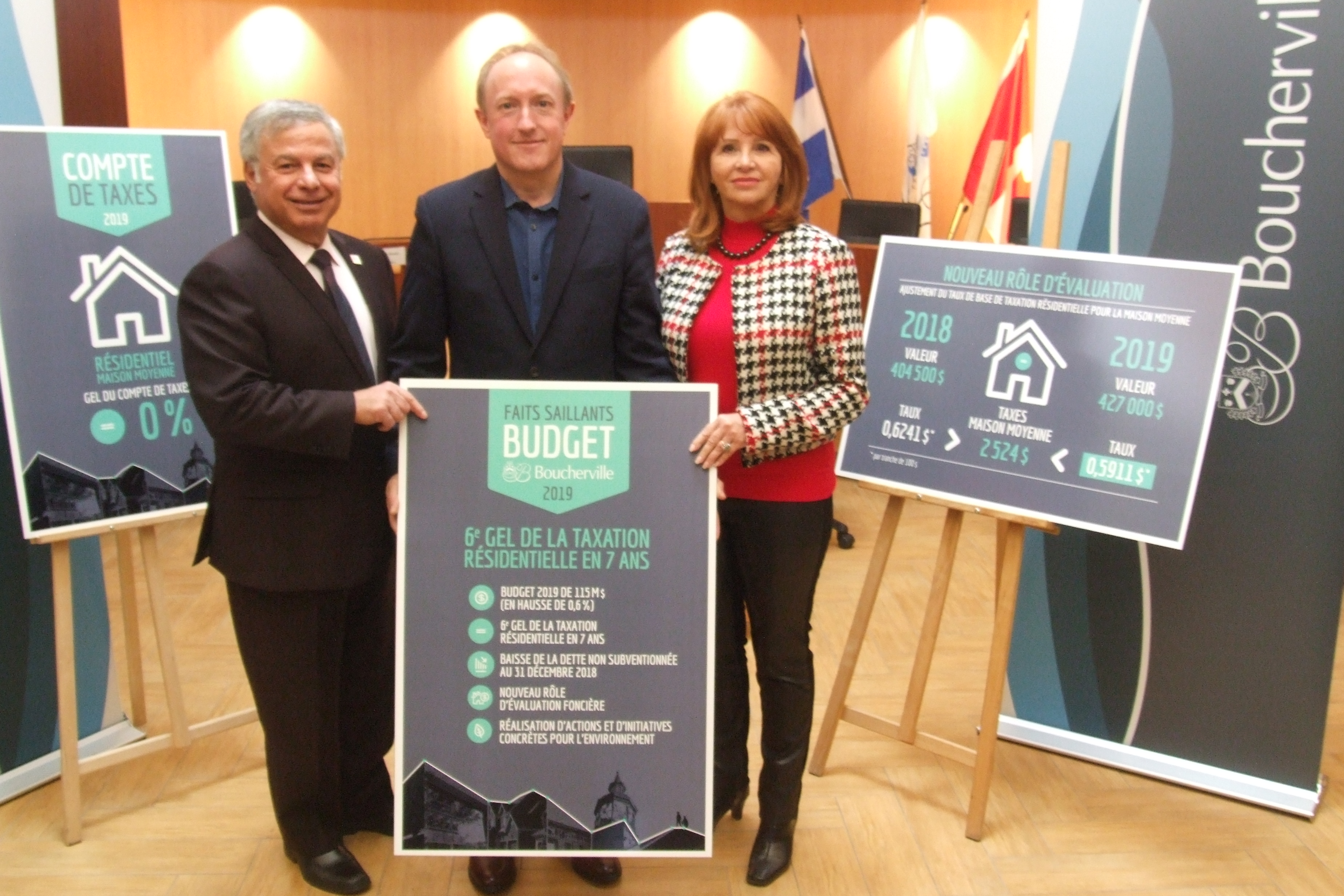 Gel des taxes résidentielles maintenu en 2019 à Boucherville