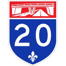 Fermeture partielle de l'autoroute 20 ouest et de bretelles à Boucherville